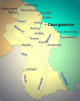 Turquoise Net Map of Guyana