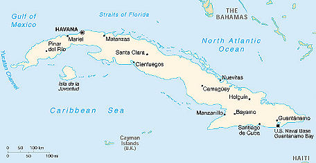 Turquoise Net Map Of Cuba