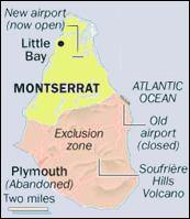 Turquoise Net Montserrat Tourist Guide Map - Montserrat map