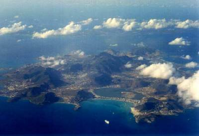 Sint Maarten/St. Martin From the Air